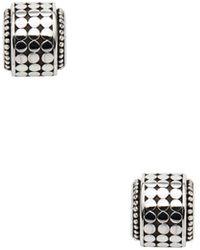 John Hardy - Dot Silver Mini Hi-way Earrings - Lyst