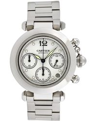 Cartier - Vintage Cartier Pasha Chronograph Stainless Steel Watch, 36mm - Lyst