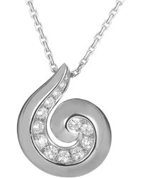 Heritage Van Cleef & Arpels - Van Cleef & Arpels Diamond Breeze 18k 0.40 Ct. Tw. Diamond Necklace - Lyst