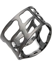 Robert Lee Morris - Plaid Wide Bangle Bracelet - Lyst