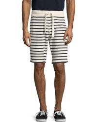 Tailor Vintage - Sailor Stripe French Terry Shorts - Lyst