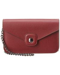 Longchamp - Le Pliage Heritage Leather Wallet On Chain - Lyst
