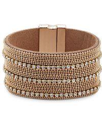 Noir Jewelry | Sparkle Rhinestone-studded Bracelet | Lyst