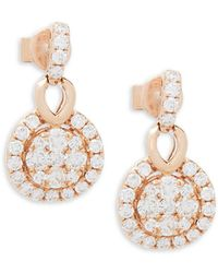 Le Vian - 14k Strawberry Gold And Vanilla Diamond Earrings - Lyst