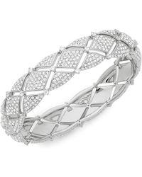Adriana Orsini - Naga Crystal Bangle Bracelet - Lyst