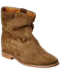 5625954d2039 Lyst - Isabel Marant Crisi Suede Ankle Boots in Brown