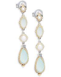 Konstantino - Amphitrite Freshwater Pearl, 18k Yellow Gold & Sterling Silver Drop Earrings - Lyst