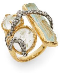 Alexis Bittar - Elements Moonlight Crystal Vine Three-stone Ring - Lyst
