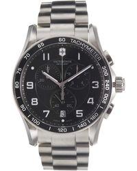 Victorinox - Chrono Classic Xls Black Bracelet Watch - Lyst