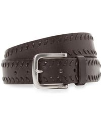 John Varvatos - Five Notch Leather Belt - Lyst