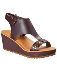 Antelope - 517 Leather Wedge Sandal - Lyst