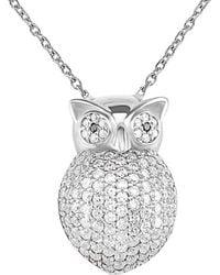 Gabi Rielle - Silver Cz Owl Pendant Necklace - Lyst