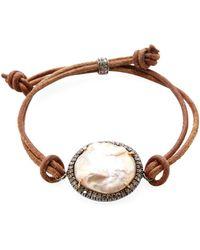 Karma Jewels - Silver, Pearl & 0.52 Total Ct. Diamond Rope Bracelet - Lyst