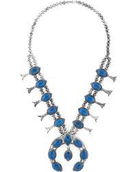 Estate Fine Jewelry - Vintage Sodalite Squash Blossom Necklace - Lyst