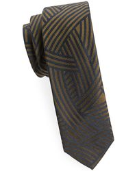 Dries Van Noten - Khaki Silk Tie - Lyst