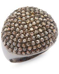 Bavna - 2.75 Tcw Diamond & Sterling Silver Ring - Lyst