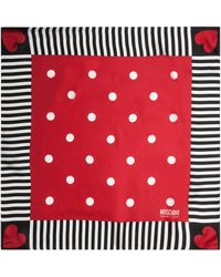 "Love Moschino - Cheap & Chic Silk Square Scarf, 35"" X 35"" - Lyst"