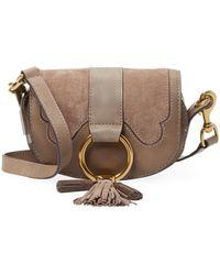 Frye - Mini Leather Saddle Bag - Lyst
