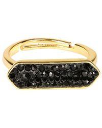Saachi - Crystal Bar Ring - Lyst