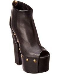 Giuseppe Zanotti - Leather Peep-toe Platform Bootie - Lyst