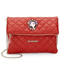 Love Moschino - Quilted Foldover Clutch - Lyst