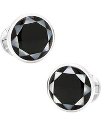 Ox and Bull Trading Co. - Sterling Silver & Onyx Mosaic Cufflinks - Lyst