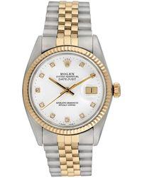 Rolex - Vintage Rolex Two-tone Datejust Watch, 36mm - Lyst
