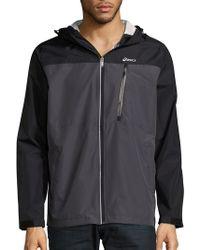 Asics - Hooded Long-sleeve Jacket - Lyst