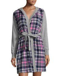Jane And Bleecker - Micro Fleece Jersey Robe - Lyst