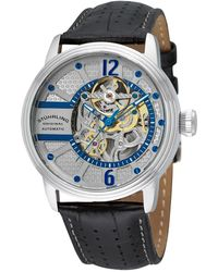 Stuhrling Original - Legacy Perforated Alligator Embossed Leather Watch, 44mm - Lyst
