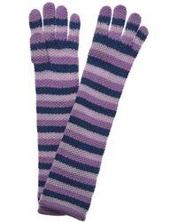 Portolano - Orchid Mist & Lavender Cashmere Gloves - Lyst
