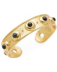 Stephanie Kantis - 24k Gold-dipped Amethyst Cuff Bracelet - Lyst