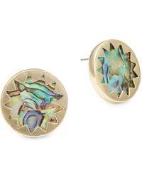 House of Harlow 1960 - Sunburst Metallic Post Earrings - Lyst