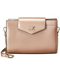 MICHAEL Michael Kors - Michael Kors Convertible Large Leather Crossbody Clutch - Lyst