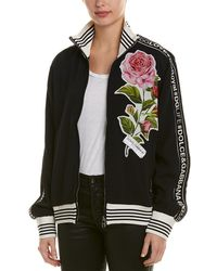 Dolce & Gabbana - Floral Applique Logo Track Top - Lyst