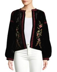 Raga - Embroidered Open-front Jacket - Lyst