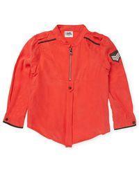 Karl Lagerfeld - Army Twill Shirt - Lyst