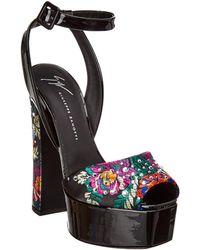 Giuseppe Zanotti - Betty Embellished Patent Ankle Strap Sandal - Lyst