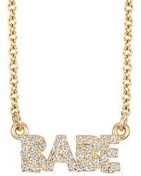 Ariana Rabbani - 14k 0.17 Ct. Tw. Diamond Babe Necklace - Lyst