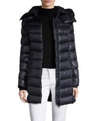 SOIA & KYO - Quilted Logo Hood Coat - Lyst