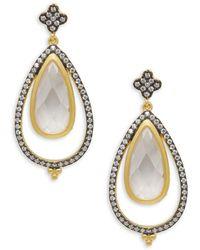 Freida Rothman - Crystal Open Teardrop Earrings - Lyst