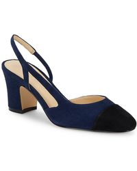 Ivanka Trump - Liah Suede Slingback Court Shoes - Lyst
