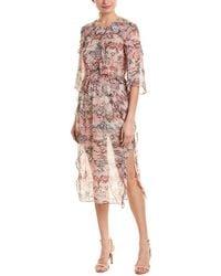 IRO 3/4-sleeve Midi Dress - Pink