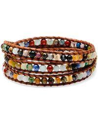Chan Luu - Silver Pietersite Wrap Bracelet - Lyst