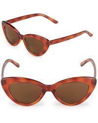 Fantaseyes - 51mm Cat Eye Sunglasses - Lyst
