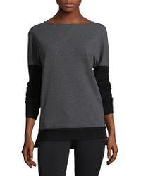 BLANC NOIR - Crossback Cotton-blend Sweatshirt - Lyst