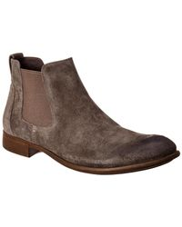 John Varvatos - Star U.s.a. Star Suede Low Chelsea Boot - Lyst