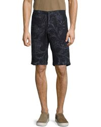 Etro - Printed Cotton Shorts - Lyst