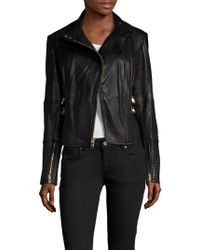 Vince Camuto - Leather Motorcycle Jacket - Lyst