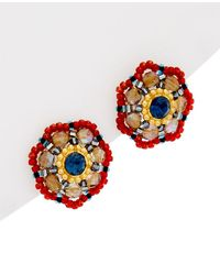 Miguel Ases - 14k Gold Filled Crystal Studs - Lyst